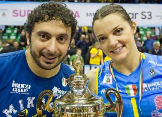 Davide Mazzanti con la moglie Serena Ortolani (dilei.it)