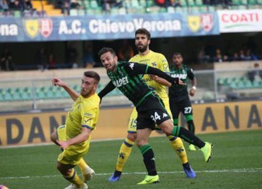 Il Sassuolo in vantaggio con la rete di Di Francesco (sassuolonews.net)