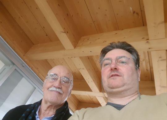 Con Luciano Gigliotti