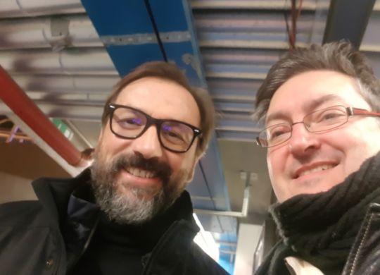 con Marco Pacione