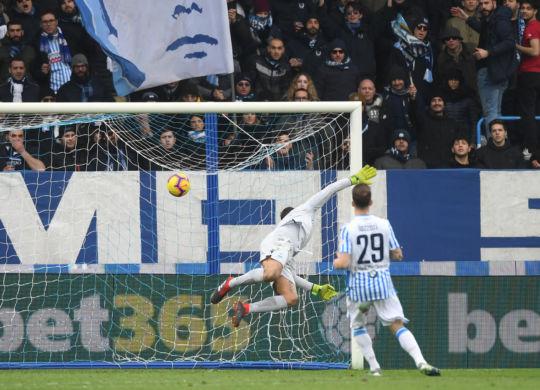 Il gol di Kurtic in Spal-Bologna (sportmediset.mediaset.it)