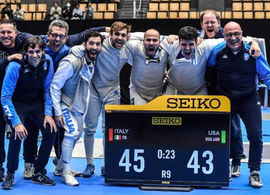 Tokyo, 26 january 2019   World cup foil men- Final gold medal  III day  in photo: ITALY vs USA  photo Augusto Bizzi