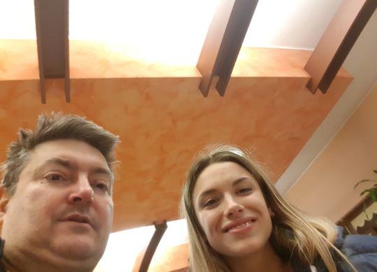 Con Gloria Zannoni