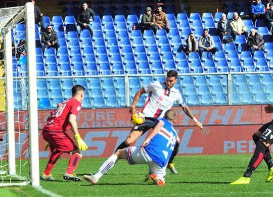 Ceppitelli in azione durante Sampdoria-Cagliari (cagliarinews24.com)