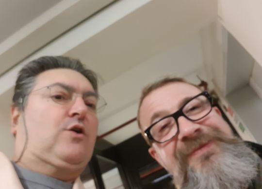 Con Marco Masini