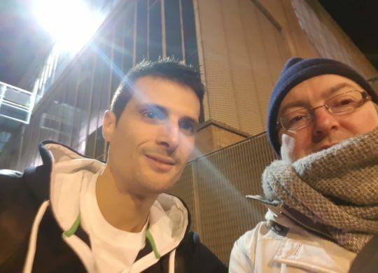 Con Andrea Cinciarini