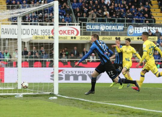 Il gol di Ilicic in Atalanta-Chievo (ansa.it)
