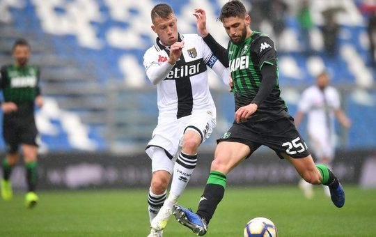 Berardi in azione durante la gara (ilmessaggero.it)