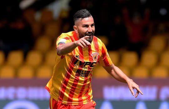 Coda è l'autore del gol dell'1-1 del Benevento contro il Padova (lapresse/gazzetta.it)