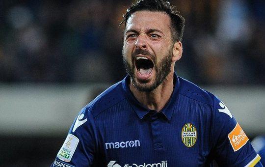 Di Carmine esulta dopo il gol (Claudio Martinelli/Lapresse)