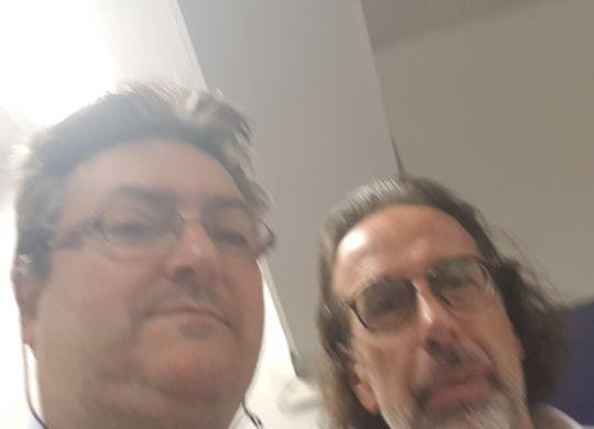 Con Armando Madonna