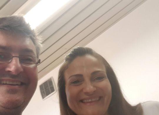 Con Antonella Del Core