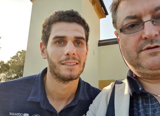 Con Matteo Ceron