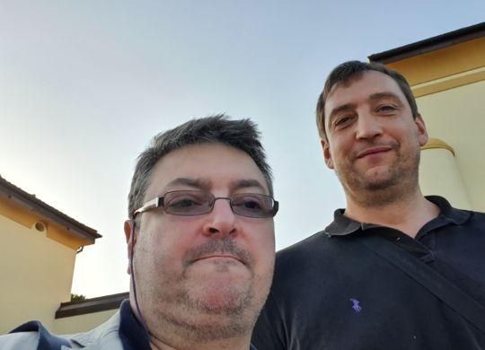 Con Denis Marconato