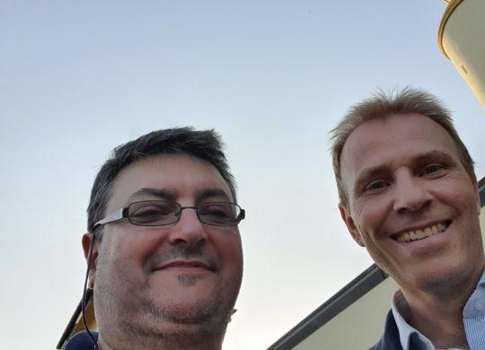 Con Marco Sambugaro