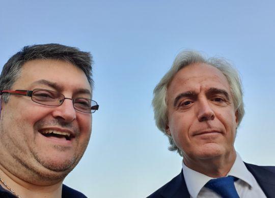Con Mattia Grassani