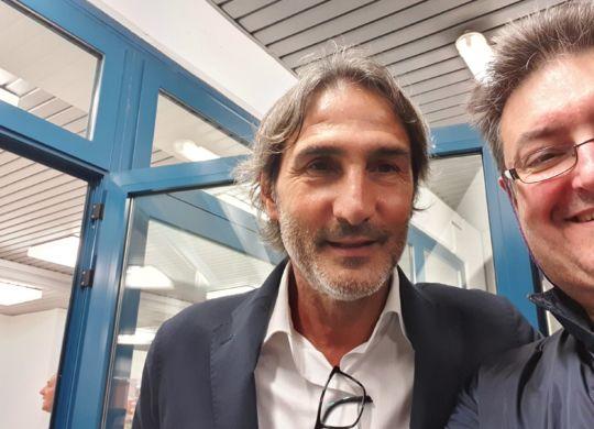 Con Angelo Gregucci