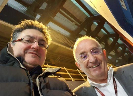 Con Romano Amadei