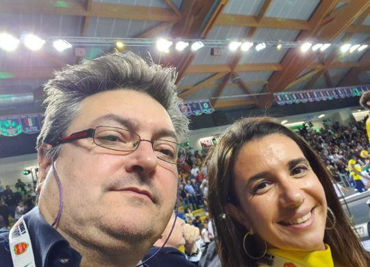 Con Giulia Gabana