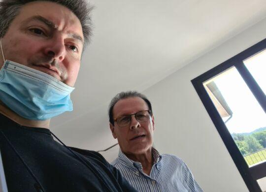 Con Giovanni Battaglin
