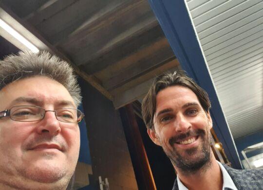 Con Luca Ariatti