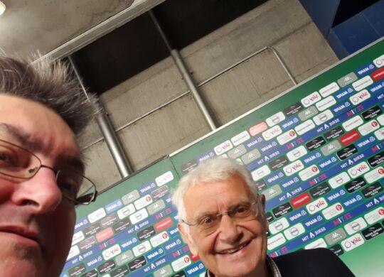 Con Arturo Zambaldo