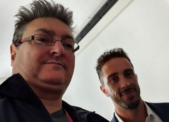 Con Andrea Dovizioso