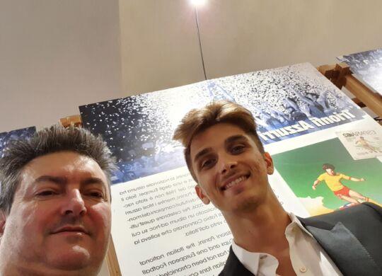 Con Luca Marini