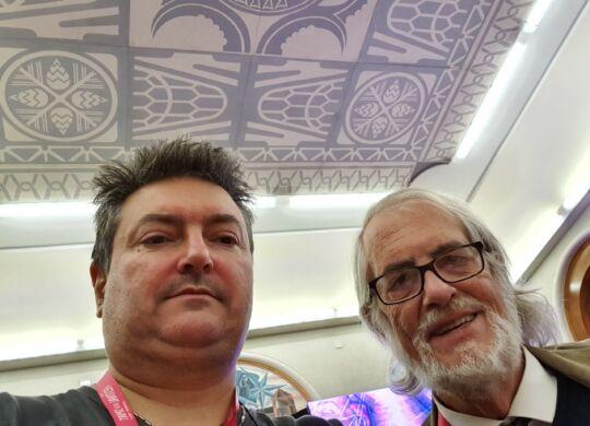 Con Sergio Tavçar