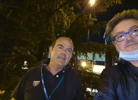 Con Roberto Prini
