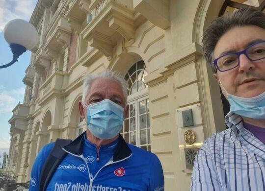 Con Francesco Moser