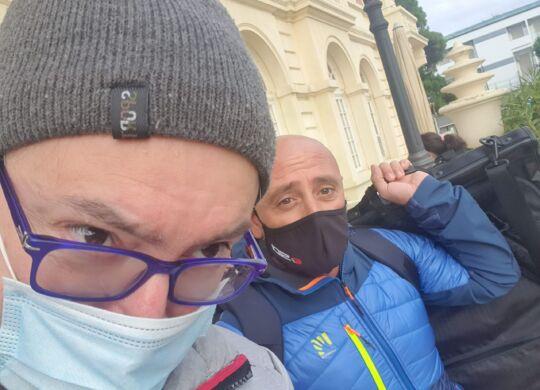 Con Paolo Bettini